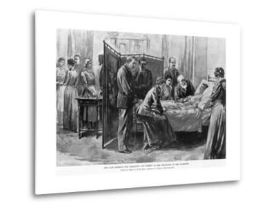 Death of Caroline Harrison--Metal Print