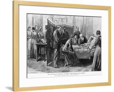 Death of Caroline Harrison--Framed Giclee Print