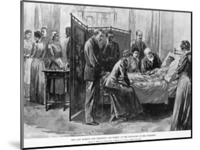 Death of Caroline Harrison--Mounted Giclee Print