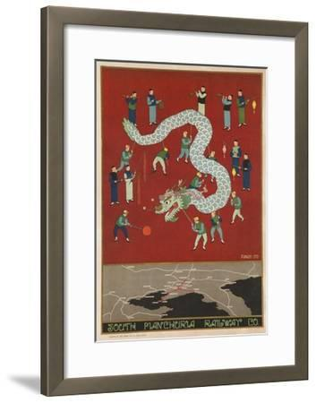 The South Manchuria Railway Travel Poster Dragon Float--Framed Giclee Print