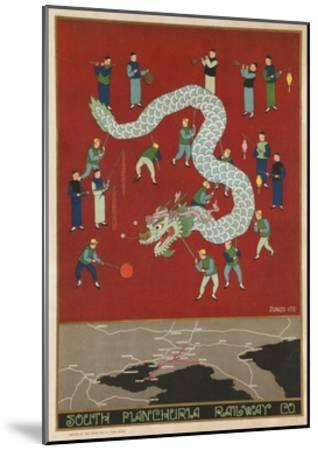 The South Manchuria Railway Travel Poster Dragon Float--Mounted Giclee Print