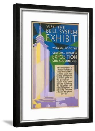 Visit the Bell System Exhibit Poster, Chicago World's Fair, 1935--Framed Giclee Print