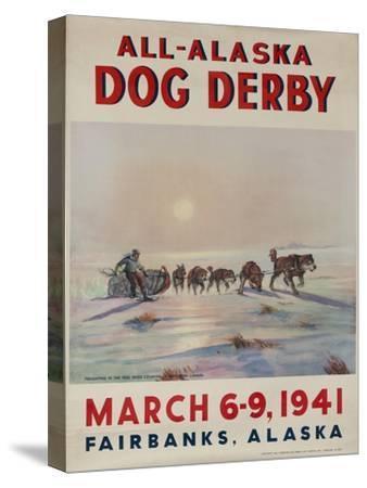 1941 All Alaska Dog Derby Poster--Stretched Canvas Print
