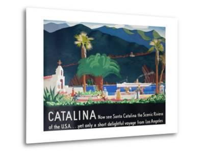 Catalina Island Travel Poster--Metal Print