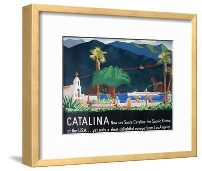 Catalina Island Travel Poster--Framed Giclee Print