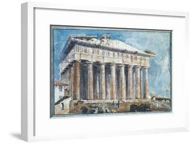 The Removal of the Sculptures from the Pediments of the Parthenon-Sir William Gell-Framed Giclee Print