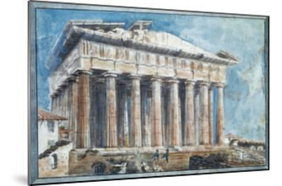 The Removal of the Sculptures from the Pediments of the Parthenon-Sir William Gell-Mounted Giclee Print