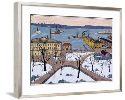 Battery Park-Glenn O. Coleman-Framed Giclee Print