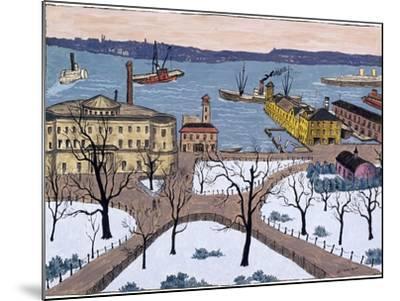 Battery Park-Glenn O. Coleman-Mounted Giclee Print
