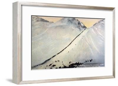 Gold Prospectors Crossing Chilkoot Pass--Framed Giclee Print