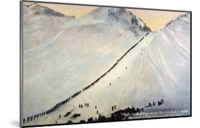 Gold Prospectors Crossing Chilkoot Pass--Mounted Giclee Print
