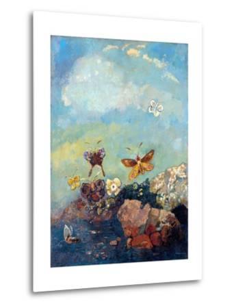 Butterflies-Odilon Redon-Metal Print