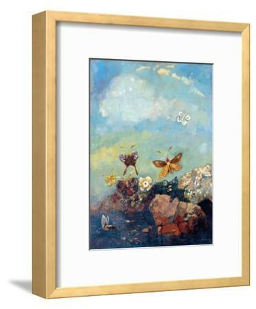 Butterflies-Odilon Redon-Framed Giclee Print