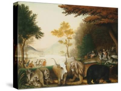 The Peaceable Kingdom-Edward Hicks-Stretched Canvas Print