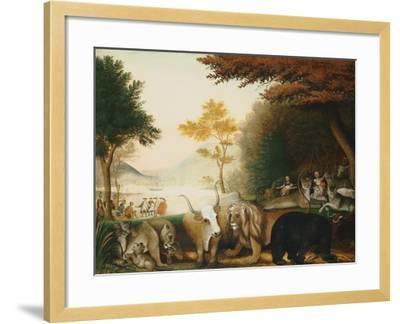 The Peaceable Kingdom-Edward Hicks-Framed Giclee Print