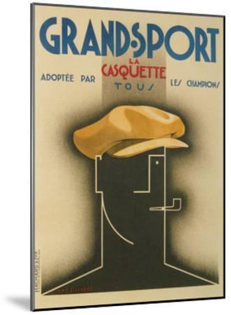 French Advertisement for Sporty Cap--Mounted Giclee Print