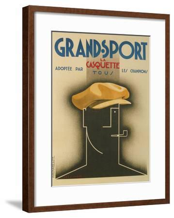 French Advertisement for Sporty Cap--Framed Giclee Print