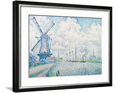 Canal of Overschie-Paul Signac-Framed Giclee Print