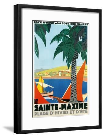 Sainte Maxime, Cote De Azure French Travel Poster--Framed Giclee Print