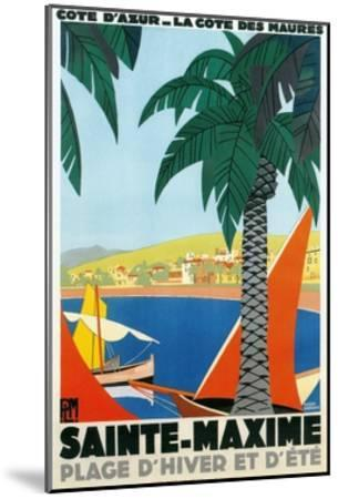 Sainte Maxime, Cote De Azure French Travel Poster--Mounted Giclee Print