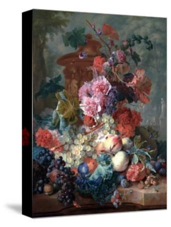 Fruit Piece-Jan van Huysum-Stretched Canvas Print