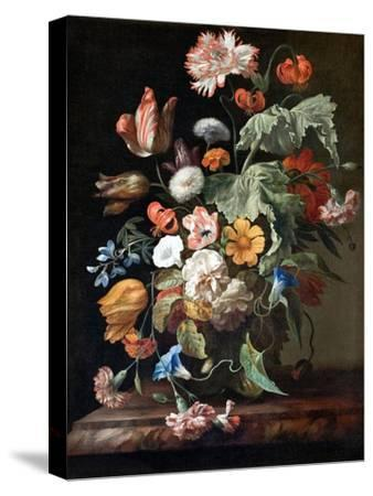 Still-Life with Flowers-Rachel Ruysch-Stretched Canvas Print