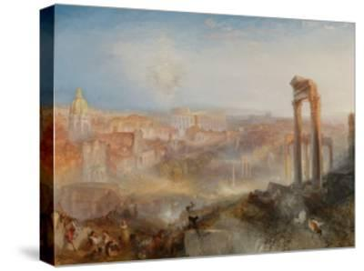 Modern Rome-Campo Vaccino-J^ M^ W^ Turner-Stretched Canvas Print
