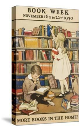 1930 Children's Book Council Book Week--Stretched Canvas Print