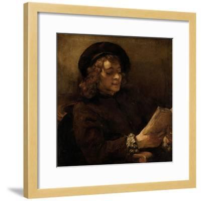 Titus Van Rijn, the Artist's Son, Reading-Rembrandt van Rijn-Framed Giclee Print