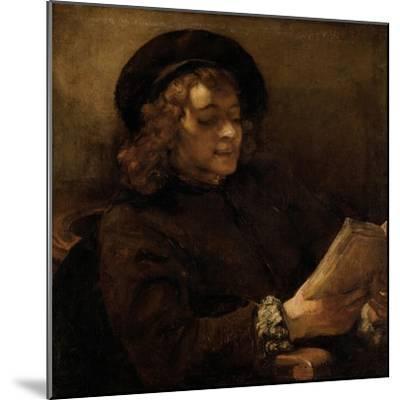 Titus Van Rijn, the Artist's Son, Reading-Rembrandt van Rijn-Mounted Giclee Print