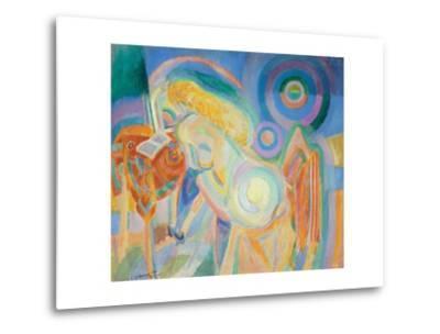 Femme Nue Lisant (Nude Woman Reading)-Robert Delaunay-Metal Print