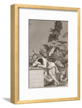 The Sleep of Reason Produces Monsters (No. 43), from Los Caprichos-Suzanne Valadon-Framed Giclee Print
