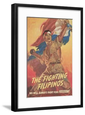 Filipino Freedom Fighter Poster--Framed Giclee Print