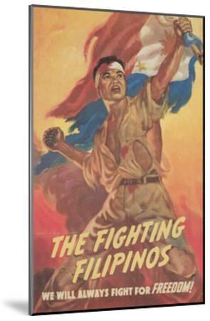 Filipino Freedom Fighter Poster--Mounted Giclee Print