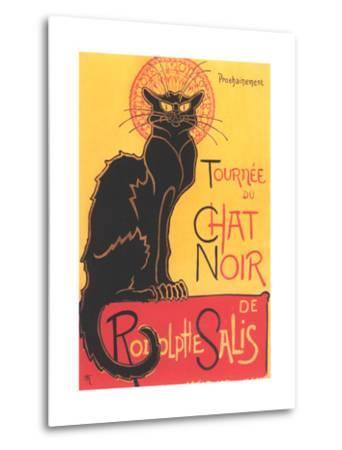 French Poster for Chat Noir Cabaret--Metal Print