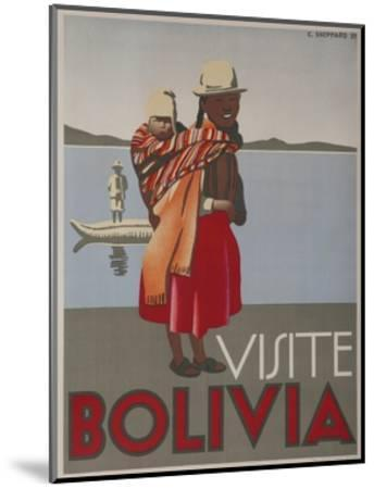 Visit Bolivia 1935 Travel Poster--Mounted Giclee Print