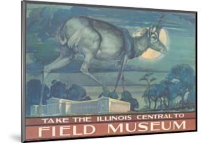 Poster for Field Museum with Horned Antelope--Mounted Giclee Print