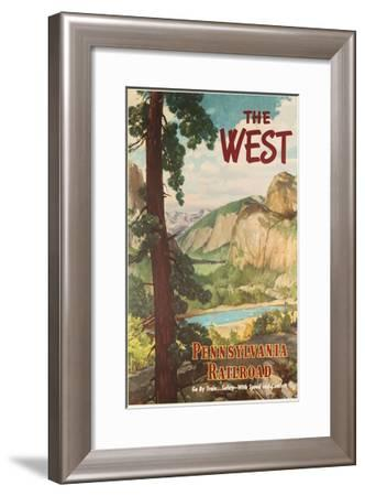 The West, Pennsylvania Railroad Go by Train Poster--Framed Giclee Print