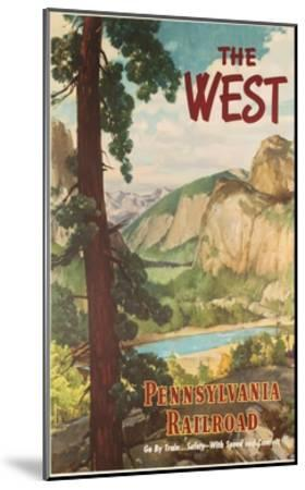 The West, Pennsylvania Railroad Go by Train Poster--Mounted Giclee Print