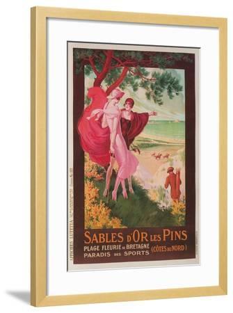 Travel Poster for Brittany, France--Framed Giclee Print