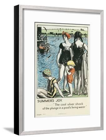 Summer's Joy, Swimming--Framed Giclee Print