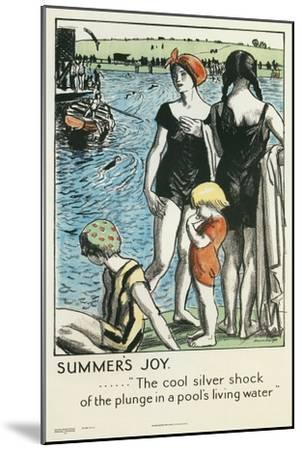 Summer's Joy, Swimming--Mounted Giclee Print