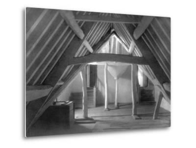 Attic of Kelmscott Manor-Frederick Henry Evans-Metal Print