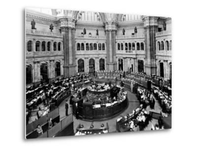 Library of Congress Reading Room--Metal Print