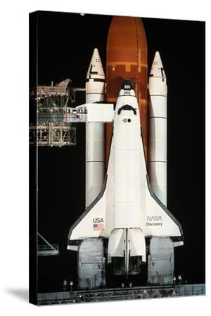 Space Shuttle Illuminated at Night-Roger Ressmeyer-Stretched Canvas Print