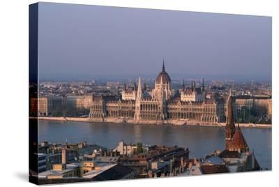 Danube in Budapest-Vittoriano Rastelli-Stretched Canvas Print