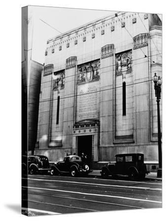 Facade of the Los Angeles Stock Exchange--Stretched Canvas Print