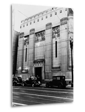 Facade of the Los Angeles Stock Exchange--Metal Print