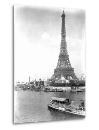 River Seine and Eiffel Tower--Metal Print