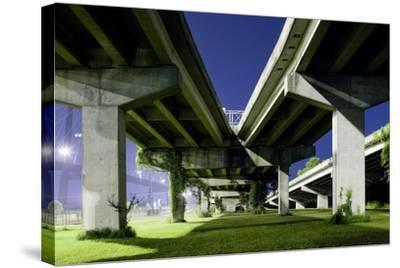 Highway Overpass at Night-Paul Souders-Stretched Canvas Print